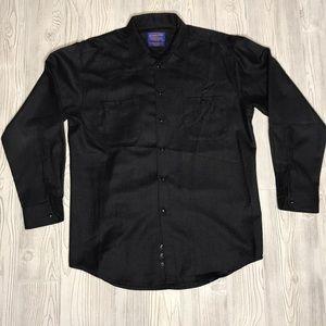 Pendleton Gray 100% Wool Button Up